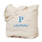 P is for Parker Tote Bag