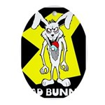 Bad Bunny Oval Ornament