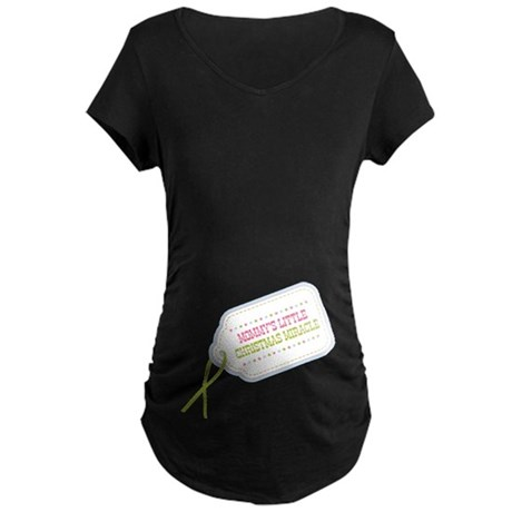 Mommy's Christmas Miracle Maternity Dark T-Shirt