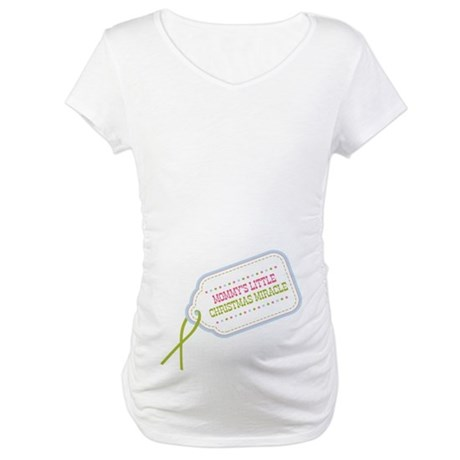 Mommy's Christmas Miracle Maternity T-Shirt