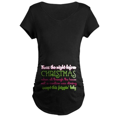 Baby Stirring Maternity Dark T-Shirt