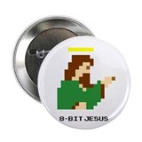 "8 Bit Jesus 2.25"" Button"