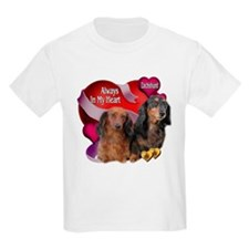 Dachshund Always In My Heart Kids T-Shirt