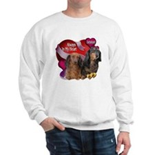 Dachshund Always In My Heart Sweatshirt