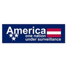 UNDER SURVEILLANCE Bumper Bumper Sticker