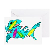 Surf Shark Greeting Card