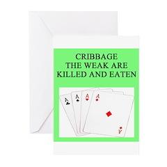 cribbage player Greeting Cards (Pk of 20)