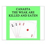 canasta player Small Poster
