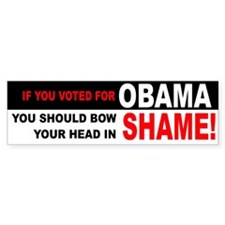 OBAMA SHAME Bumper Bumper Sticker