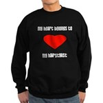 My heart belongs to my hairst Sweatshirt (dark)
