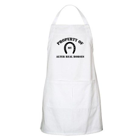 My Alter Real Horses BBQ Apron