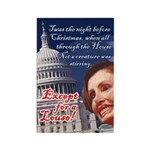Nancy Pelosi Holiday Rectangle Magnet