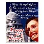 Nancy Pelosi Christmas Small Poster