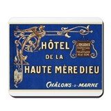 Vintage Luggage Labels Mousepad