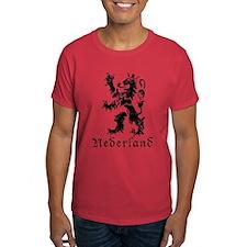 Netherlands - Lion - Black T-Shirt