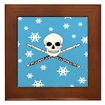 Master Flute Skull Framed Tile