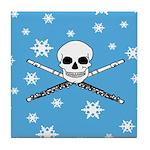 Master Flute Skull Tile Coaster