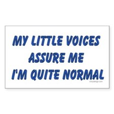 My little voices... Rectangle Decal