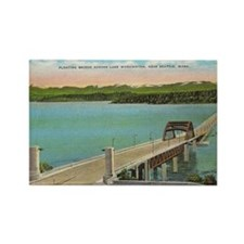 Floating Bridge Lake Washington Rectangle Magnet