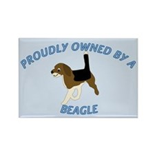 Proudly Owned Beagle Rectangle Magnet (100 pack)
