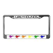 Greyhound Runners License Plate Frame