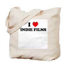 I Love Indie Films Tote Bag