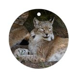 Siberian Lynx Ornament (Round)