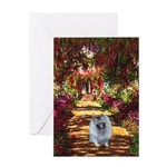 The Path - Keeshond (F) Greeting Card