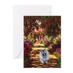 The Path - Keeshond (F) Greeting Cards (Pk of 10)