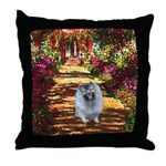 The Path - Keeshond (F) Throw Pillow