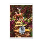 The Path - Keeshond (F) Mini Poster Print