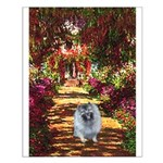 The Path - Keeshond (F) Small Poster