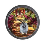 The Path - Keeshond (F) Wall Clock