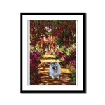 The Path - Keeshond (F) Framed Panel Print