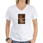 The Path - Keeshond (F) Women's V-Neck T-Shirt