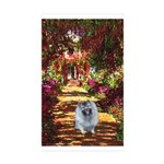 The Path - Keeshond (F) Sticker (Rectangle 50 pk)