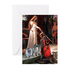 Accolade - Two Keeshonds Greeting Cards (Pk of 10)