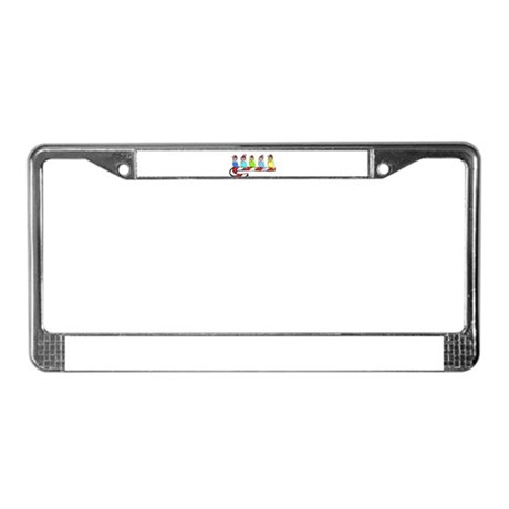 Budgies- Christmas License Plate Frame