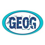 GEOG Geography Oval Sticker