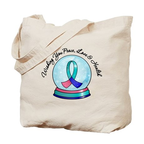 Snowglobe Thyroid Cancer Tote Bag
