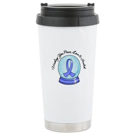 Snowglobe Stomach Cancer Ceramic Travel Mug