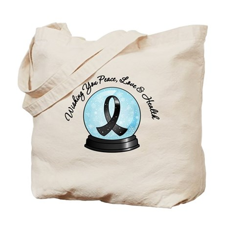 Snowglobe Skin Cancer Tote Bag
