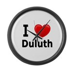 I Love Duluth Large Wall Clock