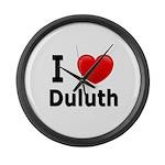 I Love Duluth Large Wall Clock