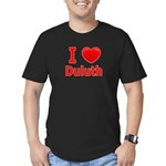 I Love Duluth Men's Fitted T-Shirt (dark)