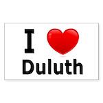 I Love Duluth Rectangle Sticker 10 pk)