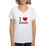 I Love Duluth Women's V-Neck T-Shirt