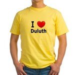 I Love Duluth Yellow T-Shirt