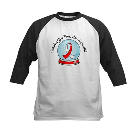 Snowglobe Oral Cancer Kids Baseball Jersey