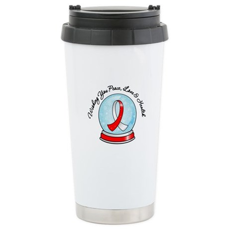 Snowglobe Oral Cancer Ceramic Travel Mug